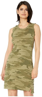 Current/Elliott The Muscle Tee Dress (Army Camo) Women's Clothing