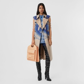 Burberry Mermaid Tail Print Cotton Sleeveless Trench Coat