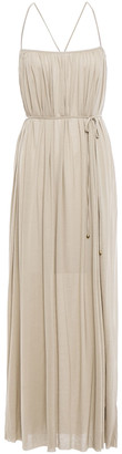 Filippa K Cutout Gathered Jersey Maxi Dress