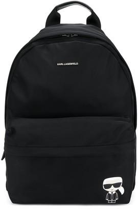 Karl Lagerfeld Paris icon print backpack
