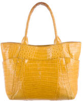 Nancy Gonzalez Crocodile Top Handle Bag