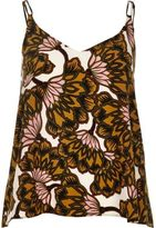 River Island Womens Yellow floral print cami