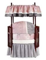 Babydoll Baby Doll Round Crib Bedding Set, Pink, 8 Piece