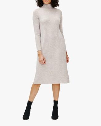 Eileen Fisher Scrunch-Neck Wool Shift Dress
