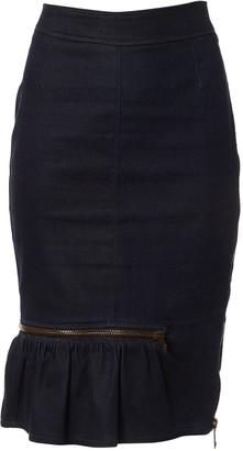 Burberry Navy Cotton Skirt for Women