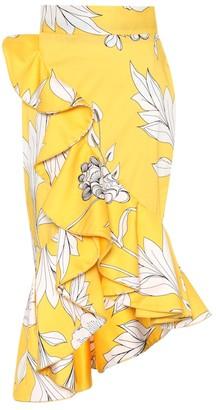 Johanna Ortiz Lychee printed stretch cotton skirt