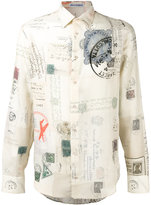 Alexander McQueen Letters from India print shirt - men - Silk/Cotton - 15 1/2
