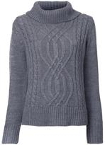 GUILD PRIME cable knit turtleneck jumper - women - Acrylic - 36