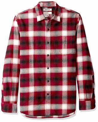 Goodthreads Amazon Brand Men's Slim-Fit Long-Sleeve Brushed Flannel Shirt