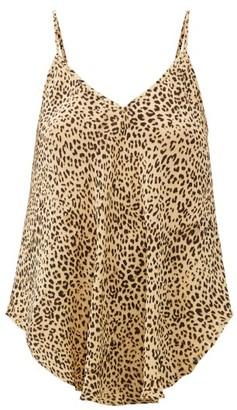 Mes Demoiselles Rosette Leopard-print Crepe Cami Top - Beige Print
