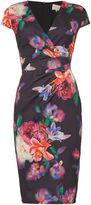 Jessica Wright Sleeveless V Neck Floral Bodycon Dress
