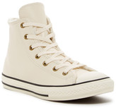 Converse Chuck Taylor® All Star® Leather Faux Shearling Lined High Top Sneaker (Little Kid & Big Kid)
