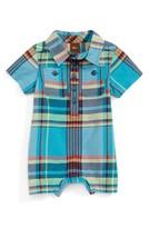Tea Collection Infant Boy's Flynn Plaid Romper