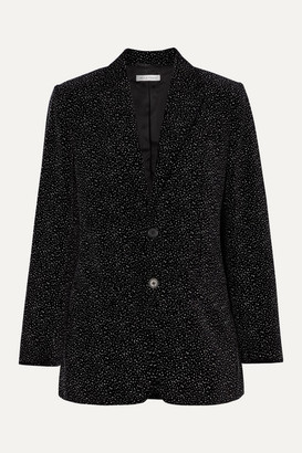 Bella Freud Allen Oversized Glittered Cotton-velvet Blazer - Black