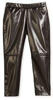 Milly Minis Vegan Leather Leggings, Black, Size 8-14