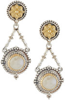 Konstantino Erato Floral Labradorite Doublet Drop Earrings