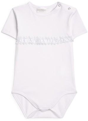 La Perla Kids Logo Lace Embroidered Bodysuit (1-12 Months)