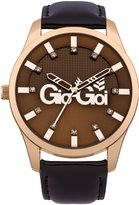 Gio-Goi Women's Quartz Watch with Dial Analogue Display and Leather Strap GG2011BR