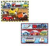 Melissa & Doug Toddler Vehicle And Construction Puzzles