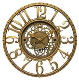 Infinity Instruments The Gear Round Wall Clock Gold