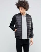 Brave Soul Scuba Sleeve Padded Front Jacket