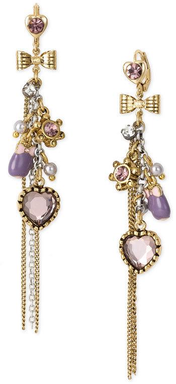 Betsey Johnson 'Girlie Charms' Star Linear Drop Earrings