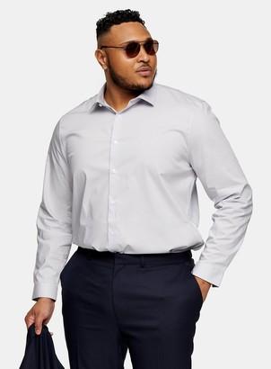 Topman BIG & TALL Grey Stretch Skinny Shirt*
