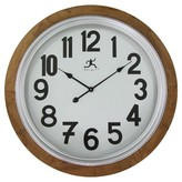 Infinity Instruments Timber Wall Clock - Brown