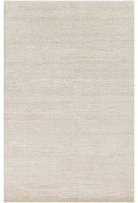 Surya Henniker Hand-Knotted Cream/Khaki Area Rug Rug Size: Rectangle 8' x 11'