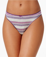 Charter Club Pretty Cotton Thong, Only at Macy's
