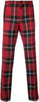 Versace tartan trousers