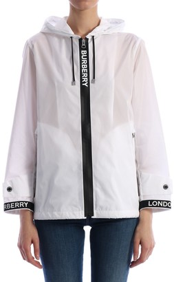 Burberry Jacket With Logoed Ribbons