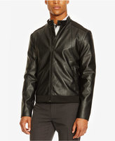 Kenneth Cole Reaction Men's Faux Leather and Neoprene Moto Jacket