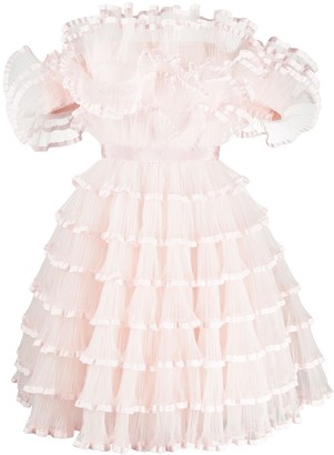 Giambattista Valli Frilly Mini Dress