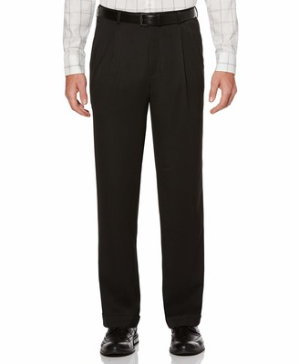 Perry Ellis Men's Big-Tall Portfolio Double Pleated Micro Melange Pant