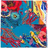 Paul Smith Hawaiian Tuna print scarf