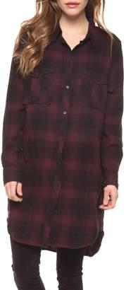 Dex High-Low Plaid Cotton-Blend Tunic