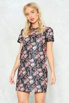 Nasty Gal All in This To-Leather Floral Dress