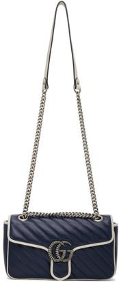Gucci Blue Torchon GG Marmont Bag