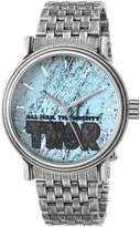 Marvel Men's 'Comics' Quartz Metal and Stainless Steel Casual Watch, Color:-Toned (Model: WMA000197)
