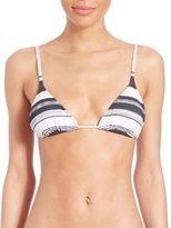 Norma Kamali Striped String Bikini Top