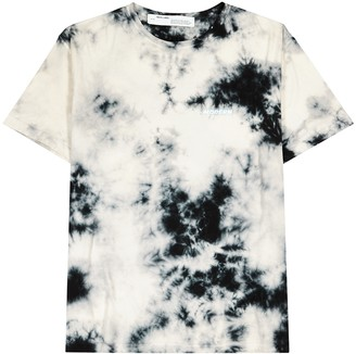 Off-White Grey tie-dyed cotton T-shirt
