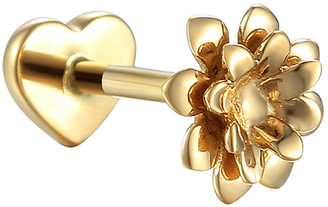 Pamela Love Anemone Single Thread Through Stud Earring - Yellow Gold