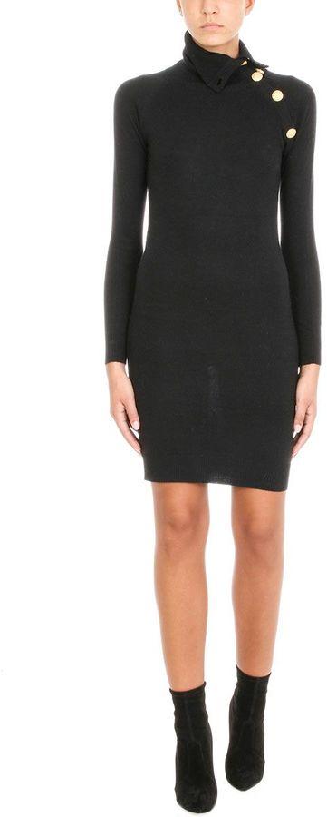 Pierre Balmain Shoulder Button Dress