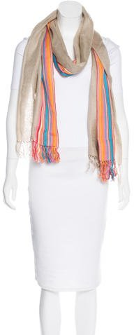 Tod's Silk-Blend Patterned Scarf