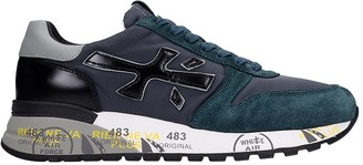 Premiata Mick Sneakers In Green Suede And Fabric