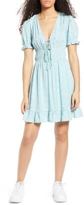 One Clothing Floral Elastic Waist Minidress