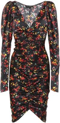 Caroline Constas Colette floral stretch-silk dress