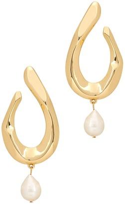 BaubleBar Petra gold-plated drop earrings
