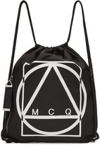 McQ by Alexander McQueen Black Nylon Logo Rucksack